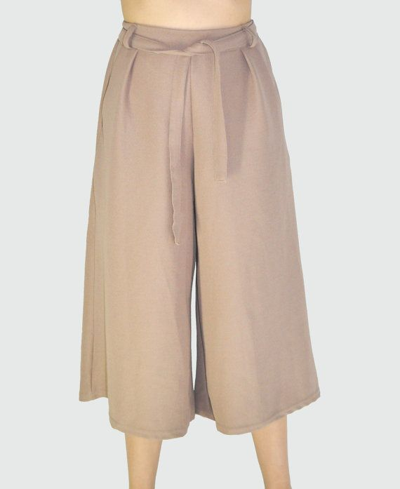 Minimalist Culottes Pants with rubber waistband by anyonethelabel