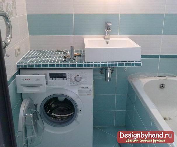 Экономия пространства в ванной: особенности установки стиральной машины под раковиной
