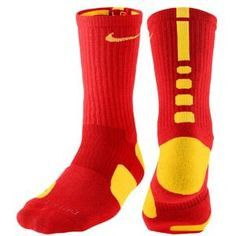 Nike Elite Basketball Crew (L) Comet Red/yellow