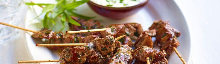 LAMB TASTY EASY FUN - Lamb Pinchos with Herb Dip | Tasty Easy Lamb