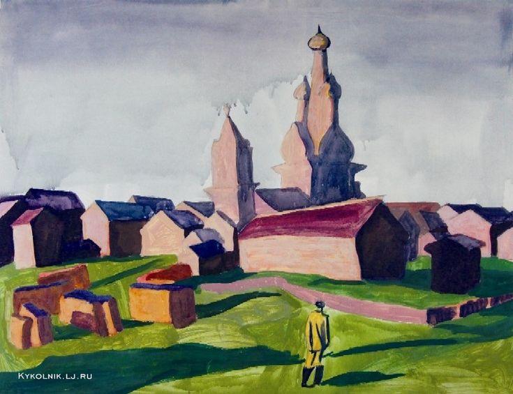 1967 Попков Виктор Ефимович (Россия, 1932–1974) «Солнечный день в Кимже»