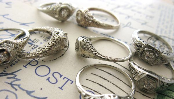 vintage heirloom rings