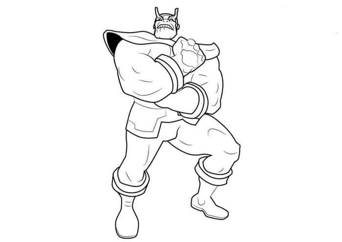 Free Thanos Coloring Pages