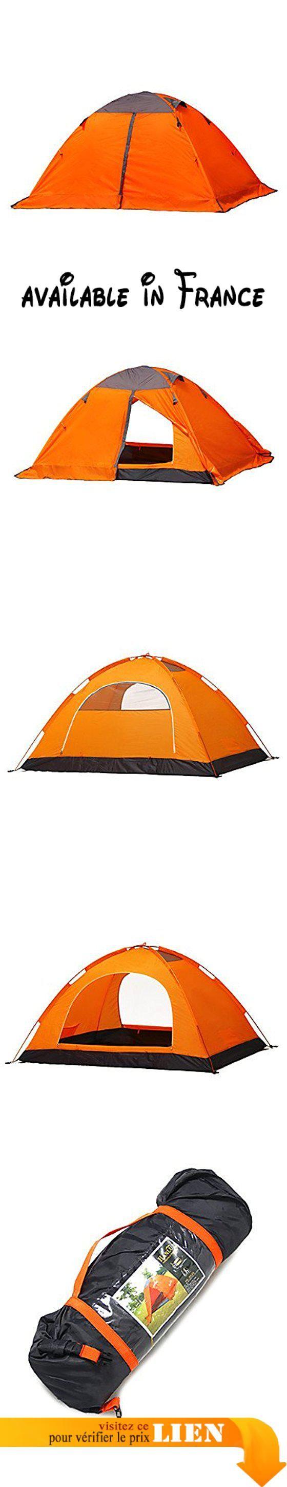 B077BZ7L6G : 3-4 personnes Tente Double Tente pliable Une pièce Tente de camping 2000-3000 mm Camping Voyage-  orange. Facile à mettre la tente de haut en bas! Excellente performance coupe-vent et étanche.. Optimum pour les campeurs en tournée ou les fins de semaine. Conception résiliente et solide avec espace de vie et de sommeil séparé. Tentes Four Seasons adaptées pour le camping la randonnée la pêche et d'autres sports de plein air.. Remarque: N'utilisez
