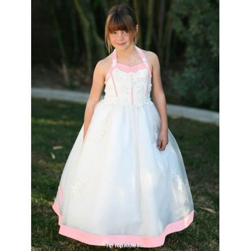 Elegant Halter Neck Bridal Style Floor Length Dress