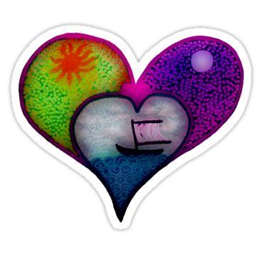Sail Away Heart Sticker by StickerNuts