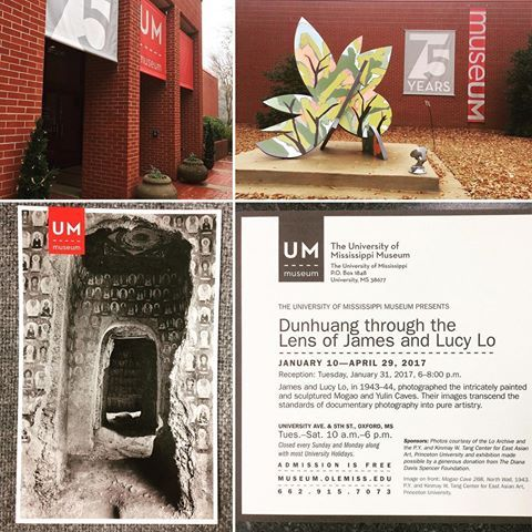 "[Photo/Collage Credit: Debbie Nelson] Photography Exhibit! Opening Tomorrow! Thanks to the Diana Davis Spencer Foundation's generous gift, making the exhibit possible. ""Dunhuang through the Lens of James & Lucy Lo"" @hottytoddynews @beingoxford @olemiss #photography #chinatravel  #buddhisttemple"