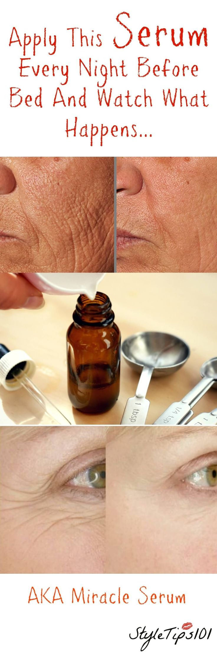 This homemade anti aging diy serum will lessen the appearance of crow's feet and wrinkles. . anavitaskincare.com