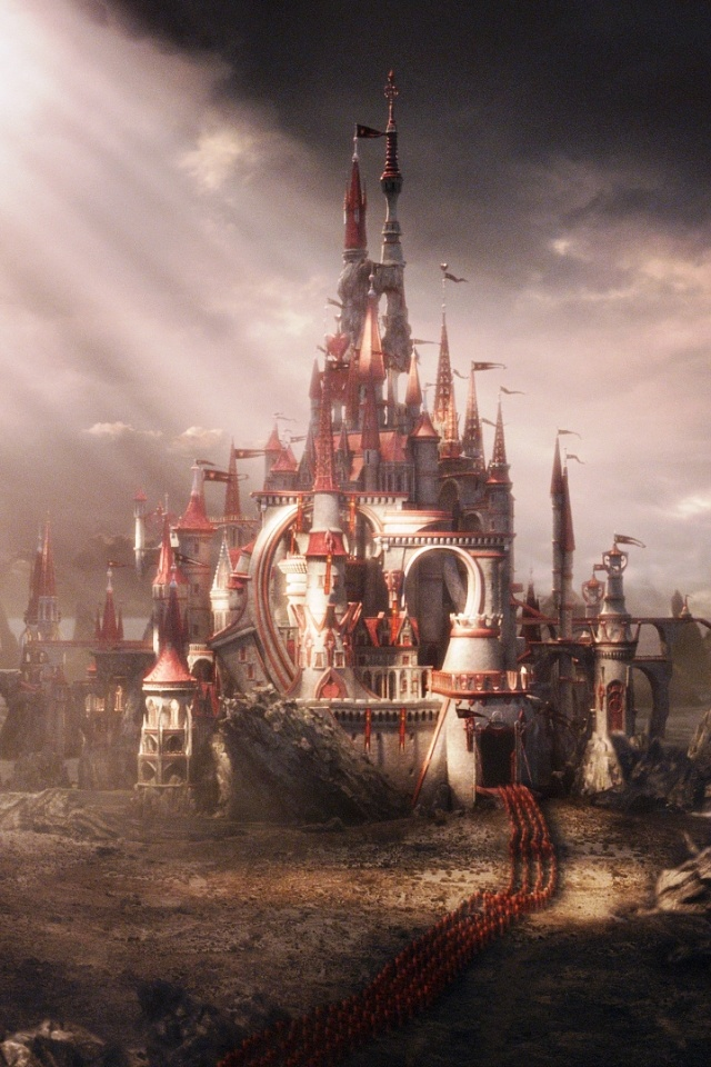 This would be the castle of the Queen of Hearts. I chose this picture because the castle is very elaborate and has many hearts incorporated into the architecture. Also, it has a very dark and gloomy look, portraying the evil nature of the Red Queen.