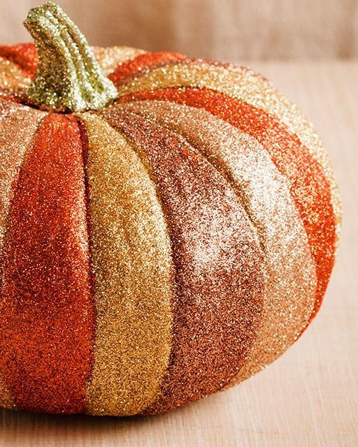 Sweet Paul's Glitter Pumpkin!  Believe me... I speak from experience... EVERYTHING is more fabulous when it's covered with GLITTER!