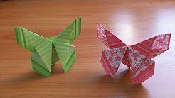 Поделки Своими Руками Для Декора Дома. Оригами Бабочки из Бумаги. - YouTube