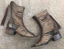 FreeBird By Steven Boots India Cage Cutout Boot Brown Leather Boho Women's Sz 8*