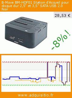 """B-Move BM-HDF01 Station d'Accueil pour disque dur 2,5"""" et 3,5"""" SATA USB 2.0 Noir (Accessoire). Réduction de 65%! Prix actuel 28,53 €, l'ancien prix était de 81,00 €. https://www.adquisitio.fr/b-move/bm-hdf01-station-daccueil"""