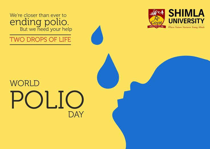 #WorldPolioDay was established by Rotary International over a decade ago to commemorate the birth of Jonas Salk, who led the first team to develop a vaccine against poliomyelitis. Shimla University - AGU joins World to spread awareness so that no child anywhere should suffer from this completely preventable disease.