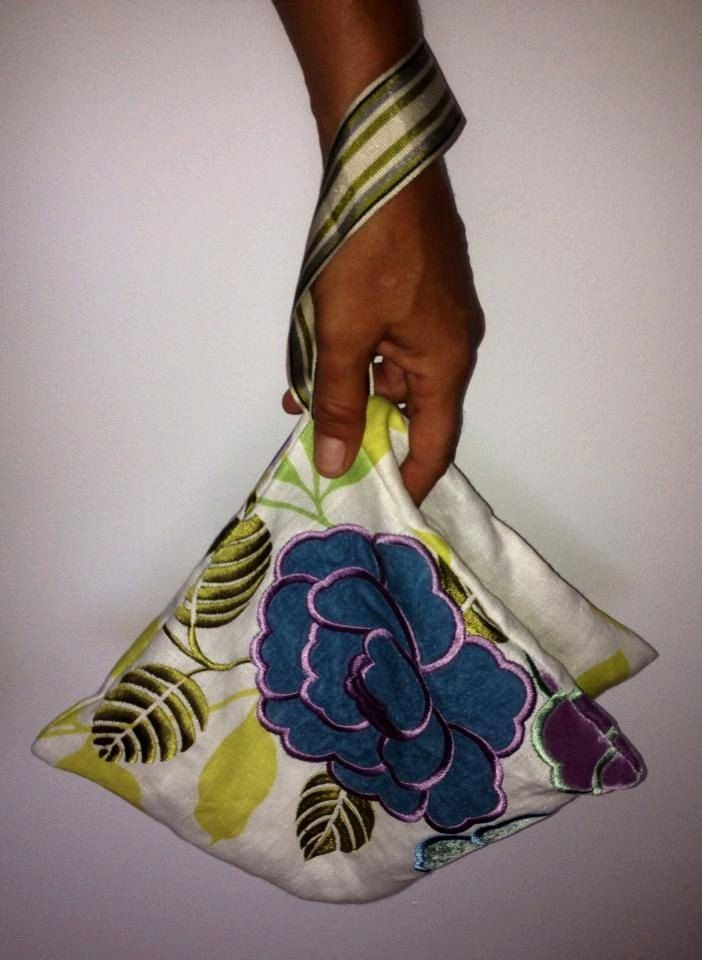 Pyramid wrist pouch by FabofABag on Etsy