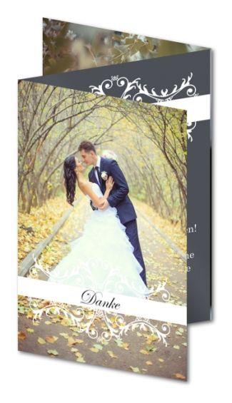 Dankeskarte Hochzeit Romantik (CAZ-290)