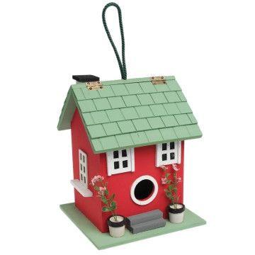 Red Summer Fun Bird House