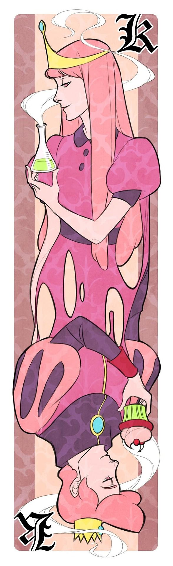 Princess Bubblegum /Prince Gumball bookmark via http://dorodraws.tumblr.com/post/52899432016/adventure-time-bookmarks