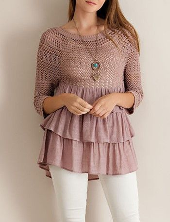 Tiered Babydoll Top. Oh so cute! $39