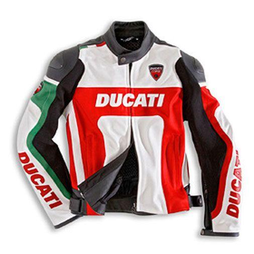 DUCATI CORSE LEATHER JACKET 2009, DUCATI BIKER JACKETS, DUCATI MOTORCYCLE JACKET