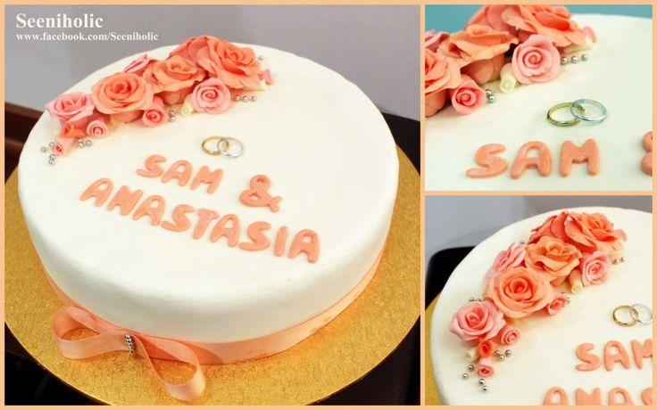simple elegant wedding cake design