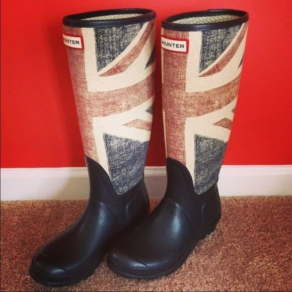 Hunter Union Jack boots Great condition Hunter Boots Shoes Winter & Rain Boots