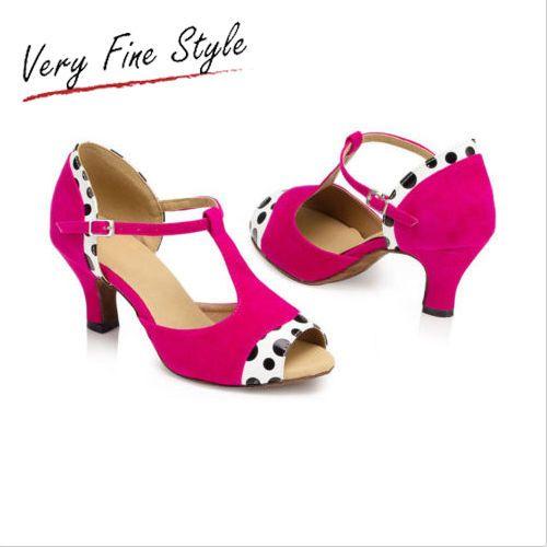 Sexy Latin Dance Shoes Tango Salsa Dancing Shoe Balllroom Heels Size 5-9 New