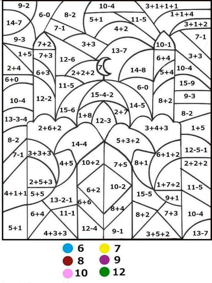 Math Subtraction Color By Number Math Coloring Worksheets Free Printable Math Worksheets Fun Math Worksheets