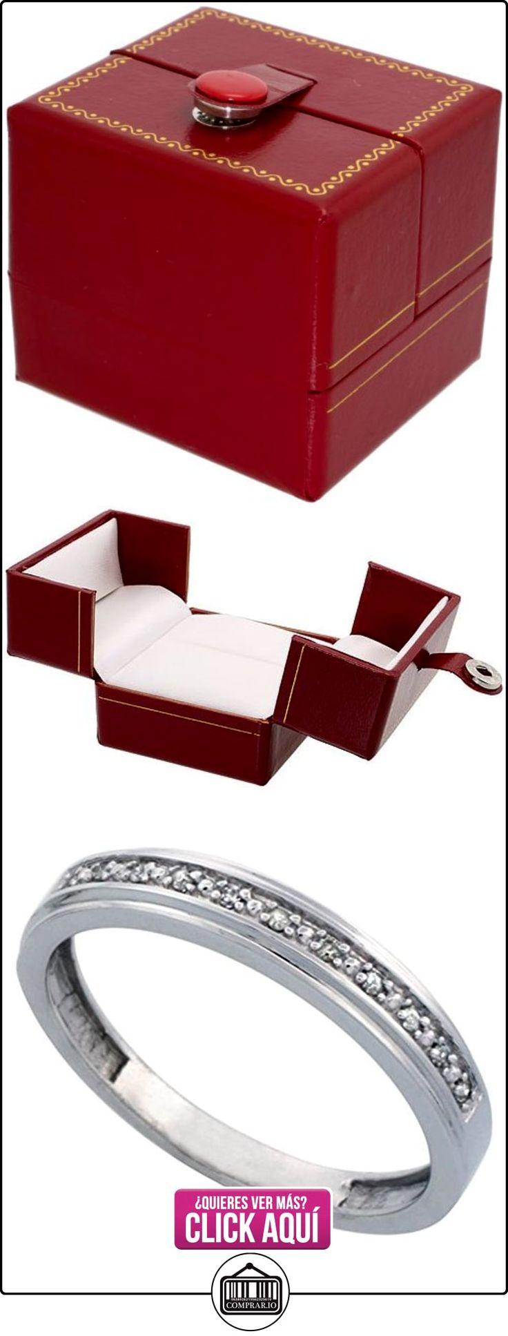 Revoni - Juego de alianzas de oro blanco con diamante  ✿ Joyas para hombres especiales - lujo ✿ ▬► Ver oferta: http://comprar.io/goto/B005M2SEQS