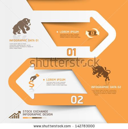 Abstract Business Stock Exchange Template. Vector Illustration. Can Be Used For Workflow Layout, Diagram, Number Options, Step Up Options, Web Design, Banner Template, Infographic. - 142783000 : Shutterstock