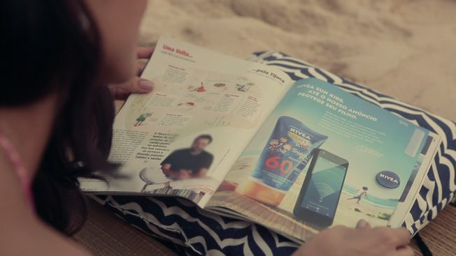 Nivea Magazine Ad Really Protects With Removable Bracelet That Tracks Your Child on the Beach | Adweek