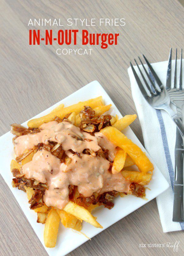 Animal Style Fries In-N-Out Burger Copycat