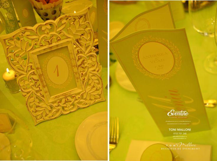 Placecard & Meniu de Nunta, tematic La La Duree by Eventure Co.  graphic designer T.Ina & event designer Toni Malloni  www.eventure.com.ro www.tonimalloni.ro www.bprint.ro www.eventurecentralstore.ro +40 723 701 348 office@eventure.com.ro