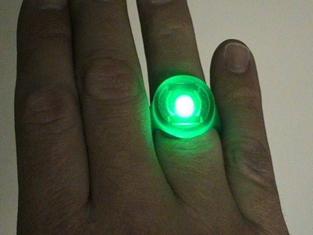 Picture of How to make a Green Lantern ring- including a glowing version!