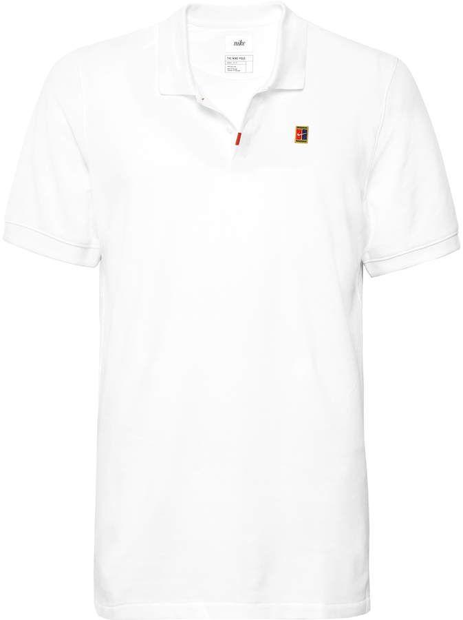 Nike Tennis Slim Fit Cotton Blend Dri Fit Pique Polo Shirt Nike Tennis Polo Shirt