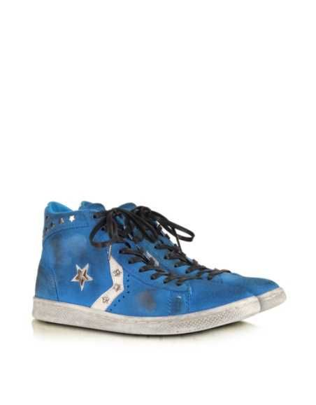 Acquista Converse Limited Edition Sneaker in Camoscio Blu Riviera e Cristalli Donna -