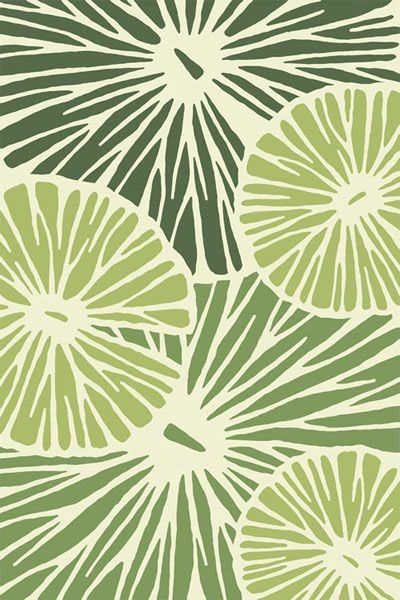 Lovely greens color palette & design! rug designs by belma kapetanovic
