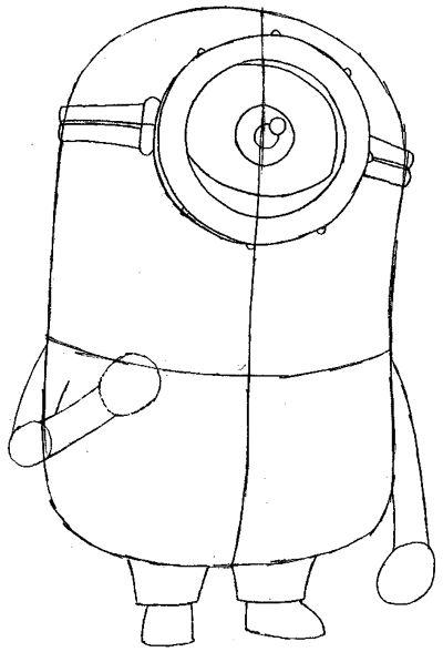 How to Draw Kevin the Minion from Despicable Me with Easy Step by Step Drawing Tutorial: Drawing Tutorials, Doodles Drawings, Drawings Tim, Drawings Art, Drawing Sketch, Drawings Kevin, Canvases Drawings, Drawings 4Mymayc, Drawings Step