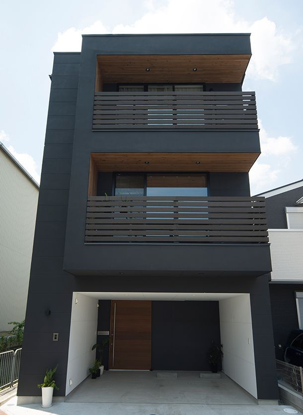 CASE 356 | Eの字型の外観の家(大阪府大東市)|狭小住宅・コンパクトハウス | 注文住宅なら建築設計事務所 フリーダムアーキテクツデザイン