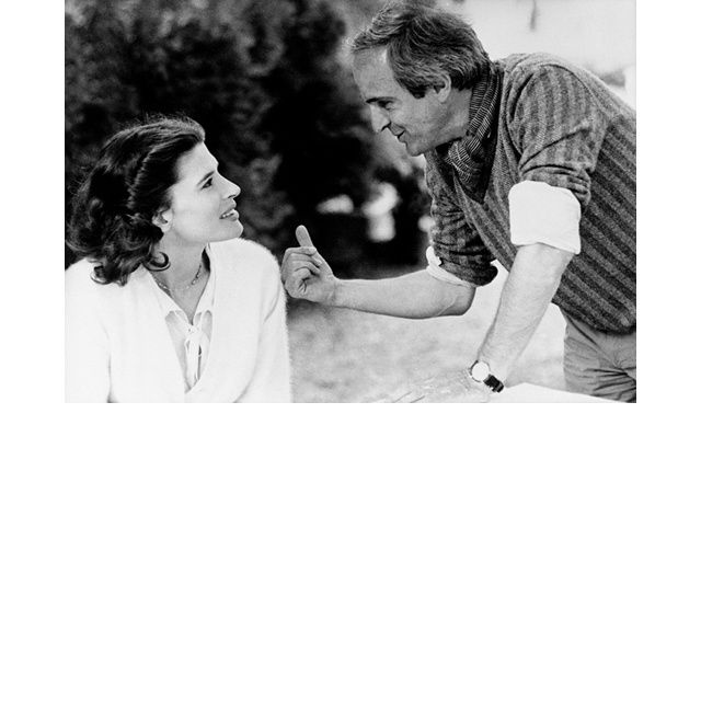 François Truffaut with Fanny Ardant. (La Femme d'à Côté-  1981, Vivement Dimanche- 1983).