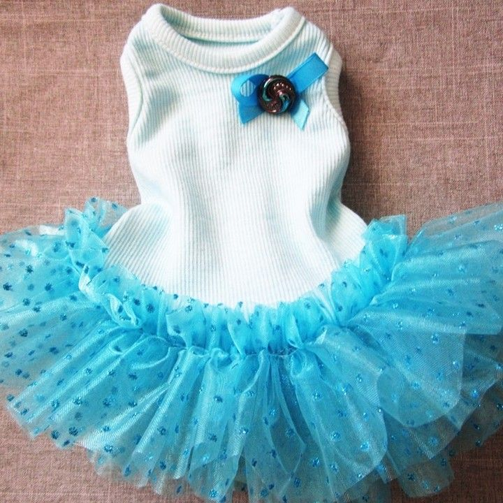 Dog Pet Dress Tutu Blue Fancy from miascloset for $10 on Square Market  For that BLUE wedding!