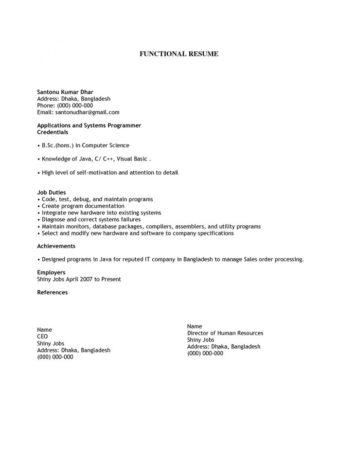 The 25+ best Basic resume format ideas on Pinterest Best cv - sample resume functional