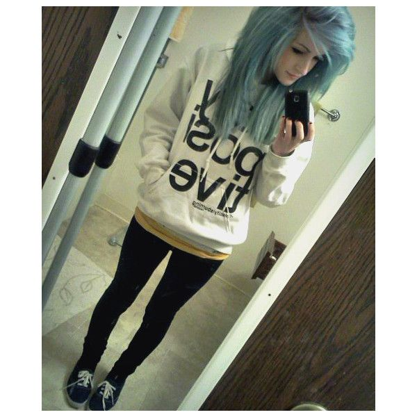 beautiful dyed hair ❤ liked on Polyvore