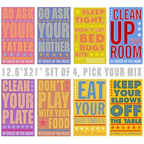 (Clean up your room; play nice; always say please and thank you;  put your dishes in the sink).  Happy. Happy.