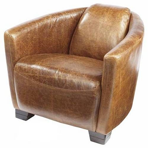 carlton rocket vintage leather tub chair by vintageleathersofas (uk made) | notonthehighstreet.com