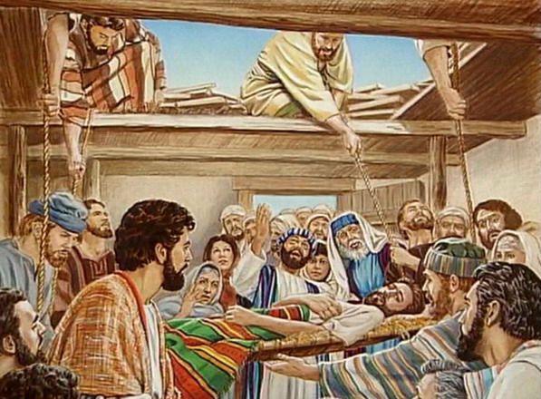 Evangelio del Día | Levántate toma tu camilla y anda  Marcos 2 1-12. Tiempo Ordinario. Esforzarnos por conocer profundamente a Cristo para transmitirlo a los demás.   Del santo Evangelio según san Marcos 2 1-12  Entró de nuevo en Cafarnaúm; al poco tiempo había corrido la voz de que estaba en casa. Se agolparon tantos que ni siquiera ante la puerta había ya sitio y él les anunciaba la Palabra. Y le vienen a traer a un paralítico llevado entre cuatro. Al no poder presentárselo a causa de la…