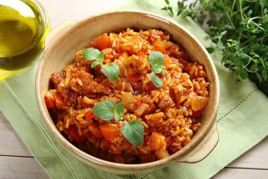 Risotto z pomidorami i  esencja do duszonego miesa