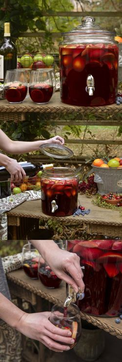 Recipe | EASY Star-Spangled Sangria ~ with or without red wine. ... #beverage #drinks