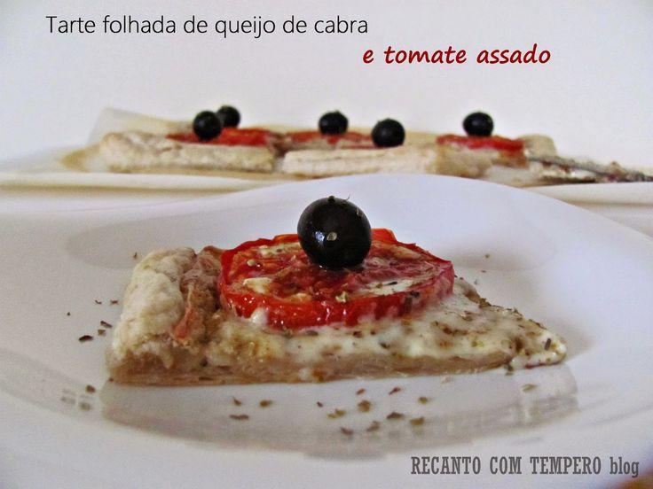 Tarte folhada de queijo de cabra e tomate assado