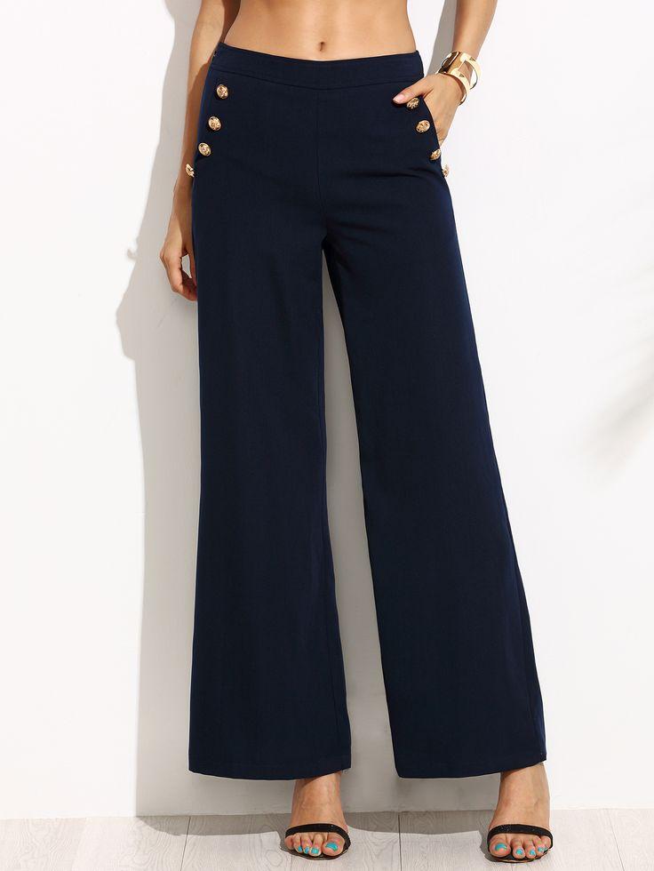 Les 25 meilleures id es de la cat gorie pantalon bleu marine femme sur pinterest tenue - Quelle couleur avec pantalon bleu marine ...